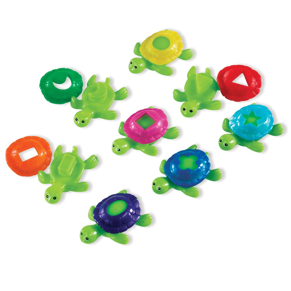 Learning Resources Set of 16 Smart Splash Shape Shell Turtles LER7303