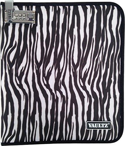 - Vaultz 12 x 10.25 x 1.25 Inches Large Locking Notebook/Tablet Cover, Zebra (VZ00755)