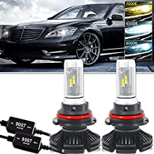 9007 HB5 LED Headlight Bulbs Hi/Lo Beam ZEX Chip All-in-One Conversion Kit Anti Flicker Error Free Canbus Decoder - 12000LM Led Fog Lights Ford Ranger Explorer Mustang Dodge Ram 1500 Cummins Durango