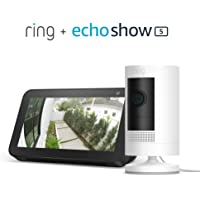 Ring Stick Up Cam Battery HD Security Camera with Two-Way Talk Works with Alexa + Echo Show 5 (Charcoal)