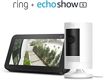 Ring Stick Up HD Security Camera (Battery or Plug-in) + Echo Show 5