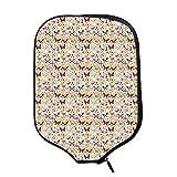 YOLIYANA Baby Durable Racket Cover,Cute Butterflies Girlish Kids Playroom Flowers Princess Baby Nursery Cartoon Theme for Sandbeach,One Size