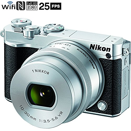 Nikon 1 J5 Digital Camera w/NIKKOR 10-30mm f/3.5-5.6 PD Zoom Lens – Silver (Renewed)