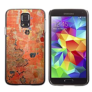 [Neutron-Star] Snap-on Series Teléfono Carcasa Funda Case Caso para Samsung Galaxy S5 [Rústico Rojo Patrón pintura desgastada]