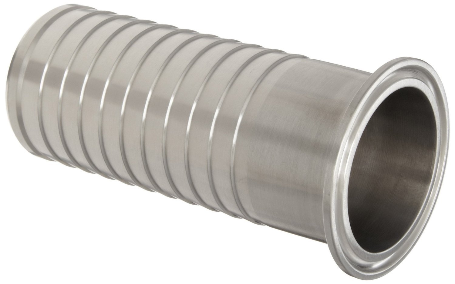 Dixon 14MPHRL200 Stainless Steel 304 Sanitary Fitting, Brewery Hose Adapter, 2'' Tube OD x 2'' Hose ID Barbed