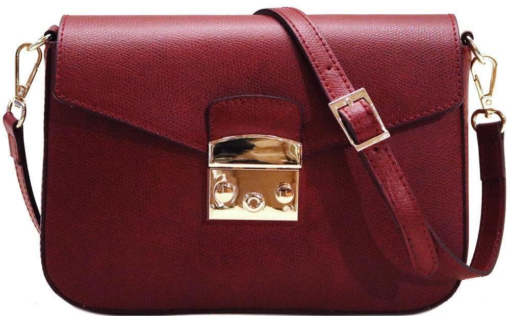 Women's Crossbody Shoulder Bag Handbag Floto Sapri in Saffiano Leather