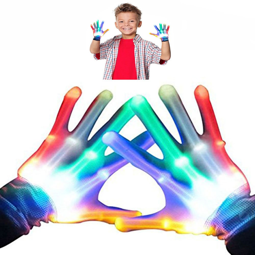 WIKI Toys for 3-12 Year Old Boys, Kids Colorful Flashing Finger The Best Gloving Toys for Boys Age 3-12 Birthday Gifts for Teen Boys Toys for 3-12 Year Old Girls