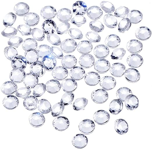 10mm Clear Scatter Crystals Wedding Table Decoration Acrylic Confetti Diamon