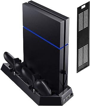 Soporte Vertical con Ventilador De Enfriamiento para PS4 / PS4 ...