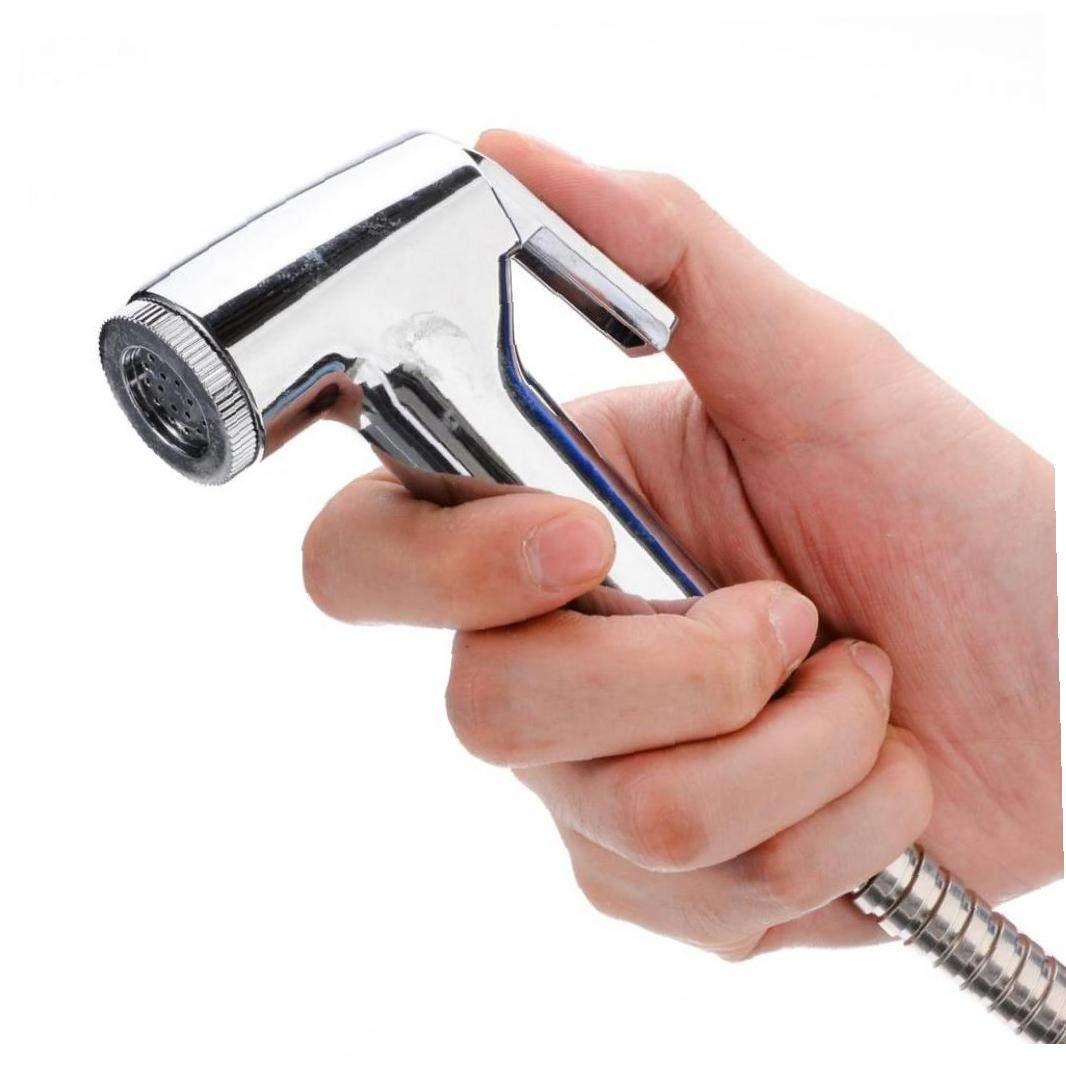 Amoyer Bid/é Handheld del rociador de Ducha WC Shattaf Pared del Adaptador de Soporte para Tubos Flexibles Kit de Asiento de Inodoro Bidet Juego de Suministros para Ba/ños