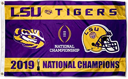 Amazon Com College Flags Banners Co Louisiana State Lsu Tigers 2019 2020 National Champions Flag Sports Outdoors
