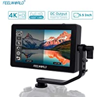 """Andoer FEELWORLD F6 Plus 5.5"""" On-Camera Field Monitor Kit 3D LUT Video Assist with Sunshade Tilt Arm Support 4K HD Input & Output 1920 * 1080 Pixels HD IPS for Canon Sony Nikon DSLR Camera"""