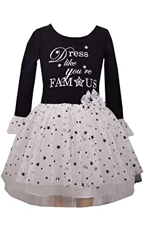 06810ab84959a Bonnie Jean Girls' Toddler Appliqued Tutu, Dress Like Youre Famous, ...