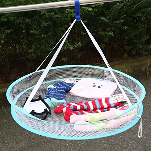 Xuan S Hook Drying Rack Folding Hanging Clothes Laundry Bask