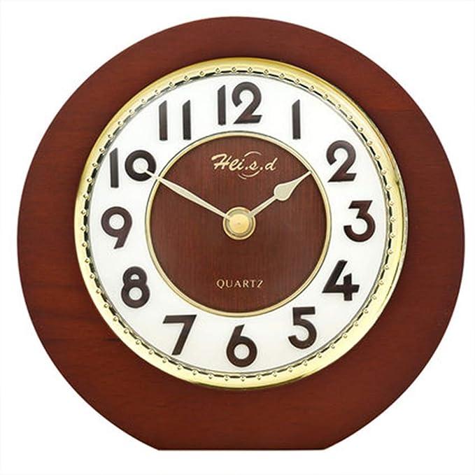 XINKONG Reloj De Sobremesa Simple Europeo De Madera Maciza, Reloj ...