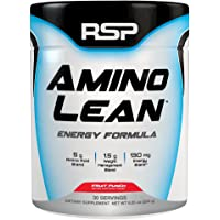 RSP AminoLean - All-in-One Pre Workout, Amino Energy, Weight Loss Supplement with Amino Acids, Complete Preworkout Energy & Natural Fat Burner for Men & Women, Fruit Punch, 30 Servings