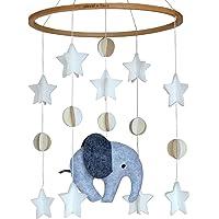 Sorrel + Fern Baby Crib Mobile Scandinavian Elephant -Baby Shower Gift Nursery Decoration