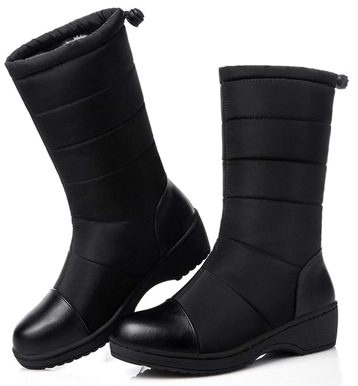 スノーブーツ レディース 防水 スノーシューズ 防滑 滑り止め 冬用長靴 雪靴 通学 通勤用 スノーシューズ