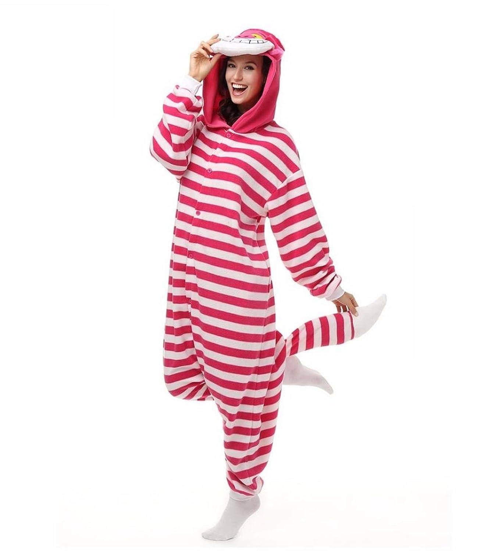TuTu@ Kigurumi Pajamas Cosplay / Cat / Chesire Cat Leotard/Onesie Halloween Animal Sleepwear Pink Patchwork Coral fleece Kigurumi Unisex