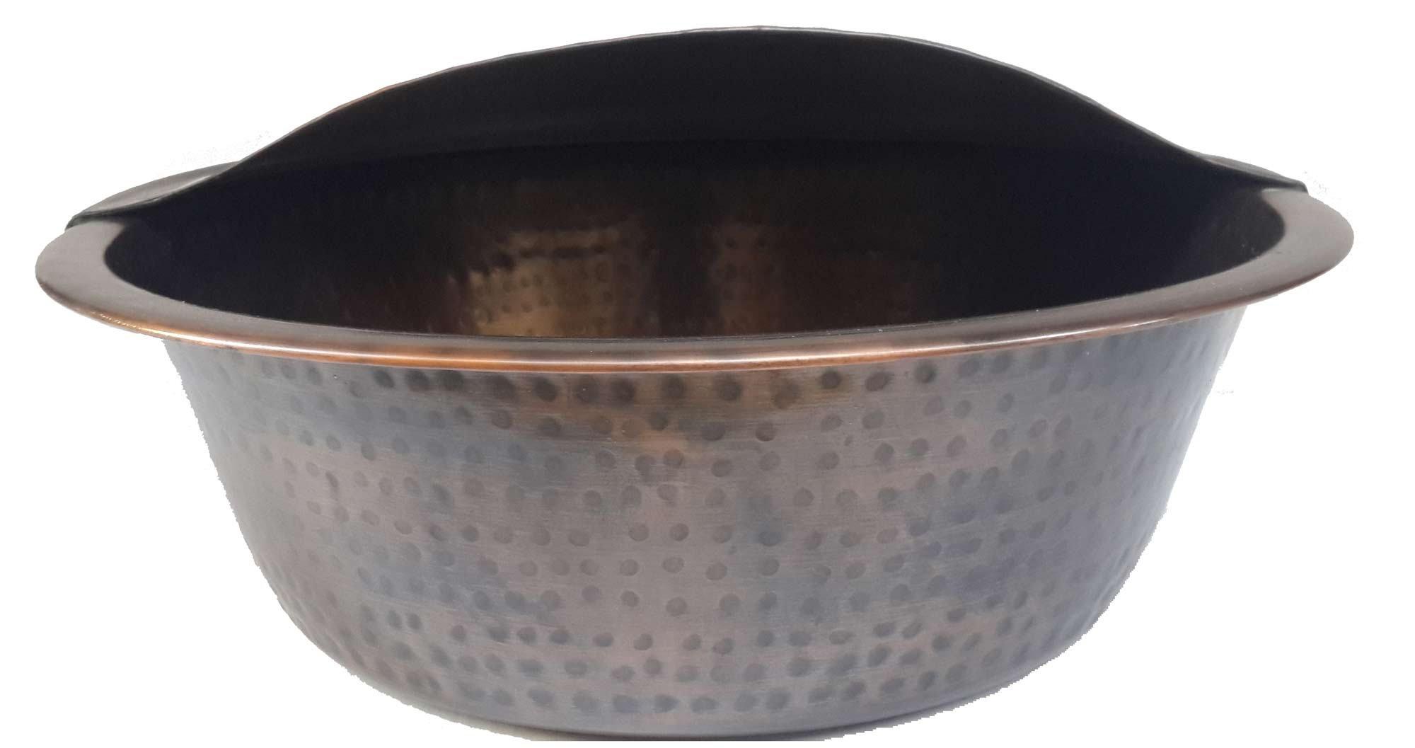 Egypt gift shops Foot Bath Wash Pedicure Spa Massage Antique Patina Handmade Bowl