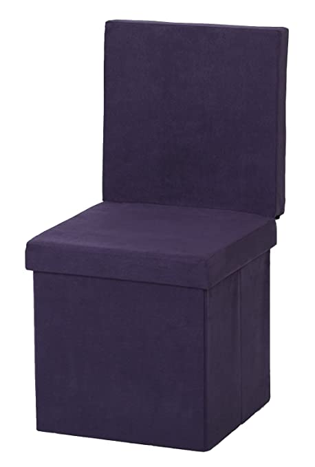 The FHE Group Folding Chair/Ottoman, Purple Suede