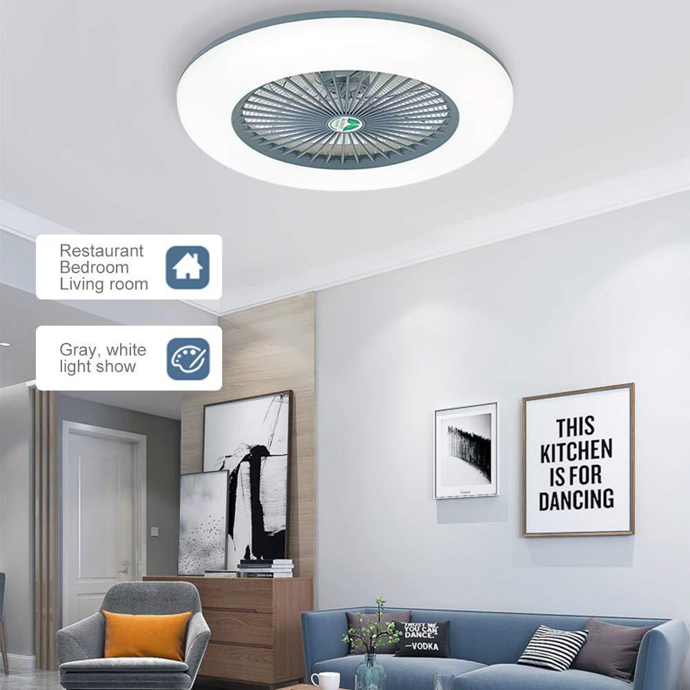 Lixada Deckenventilator mit Beleuchtung LED-Licht Einstellbare Windgeschwindigkeit Dimmbar mit Fernbedienung Ohne Batterie 36W Moderne LED-Deckenleuchte f/ür Schlafzimmer Wohnzimmer Esszimmer