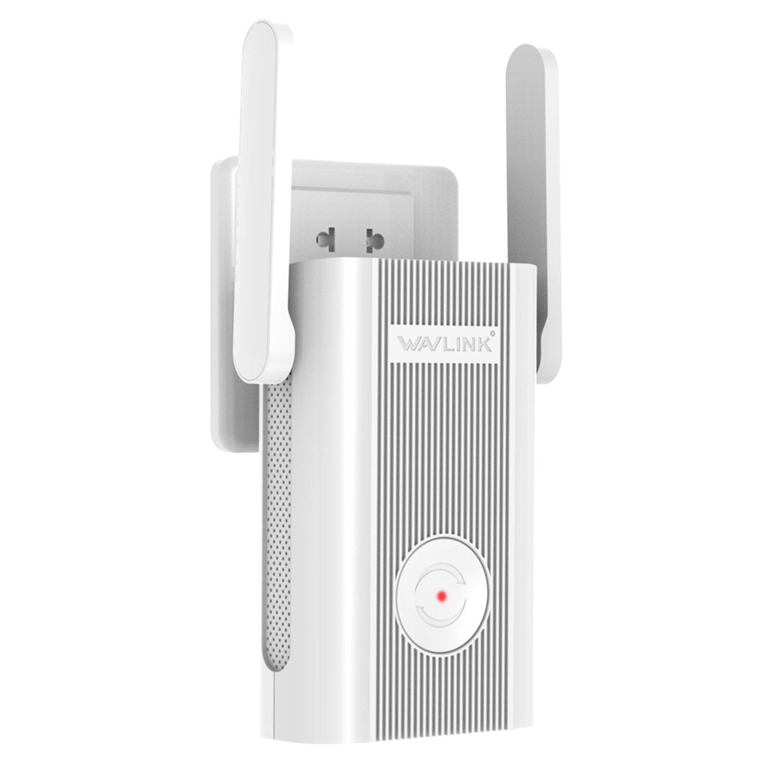 Aerial X 1200Mbps WiFi Extender Plug in Wall, WAVLINK AC1200 Dual Band 2.4 + 5Ghz WiFi Range Extender Wi-Fi Repeater Wireless Signal Booster/Wireless Access Point AP with Ethernet Port for Gaming
