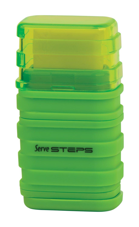 Serve SV Step S9KT Steps Eraser and Sharpner One Body Paper Box, Pack of 9-Fluorescent Colors by Serve (Image #4)