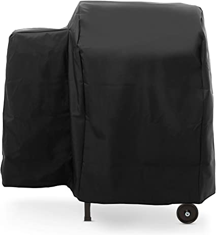 Traeger Pellet Grill Cover Polyester Weather Resistant Full Length Outdoor Grey