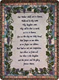 glass bird whistle - Manual Inspirational Collection 50 x 60-Inch Tapestry Throw with Verse, The Lord's Prayer