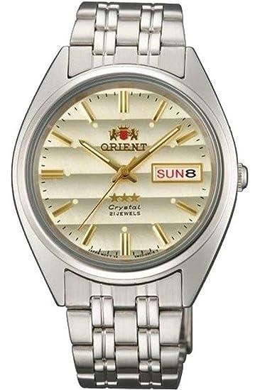 Orient Reloj Analógico para Mujer de Automático con Correa en Acero Inoxidable FAB0000DC9