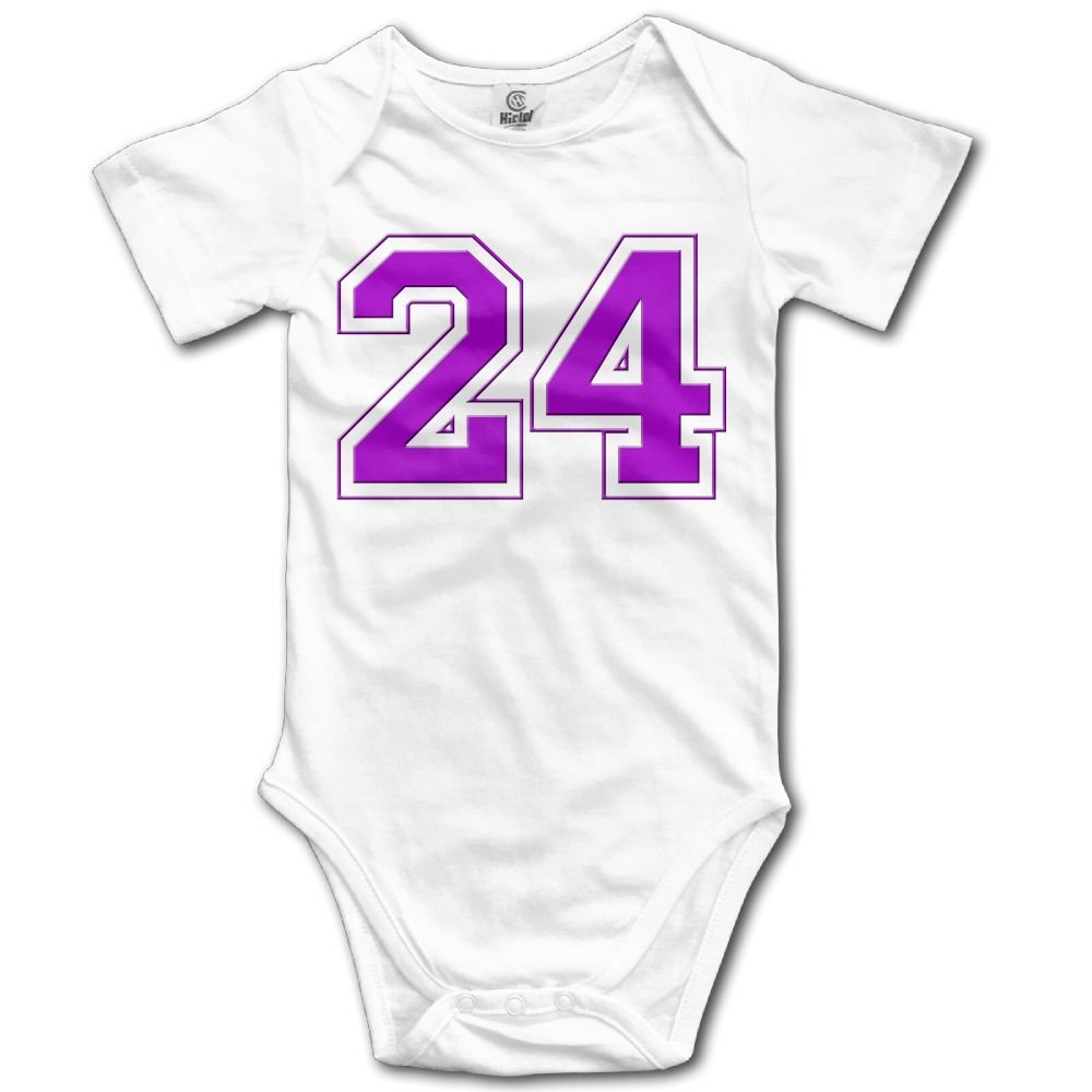 Baby Climbing Clothes Romper Number 24 Infant Playsuit Bodysuit Creeper Onesies White