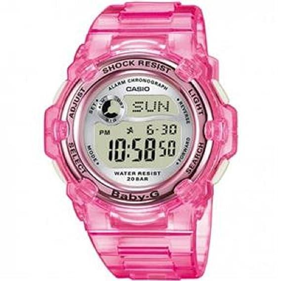 Casio Baby-G BG3000 – 4B Reloj Ladies BG 3000 – 4B rosa Slim Marino