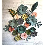 Wool-Felt-Succulents-and-Flowers-18-Flowers-4-leaves-Create-Headbands-DIY-Wreaths-Garlands-Vertical-Gardens