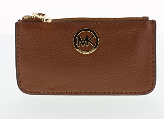 Amazon.com: Michael Kors Fulton Pebbled piel Llavero Moneda ...