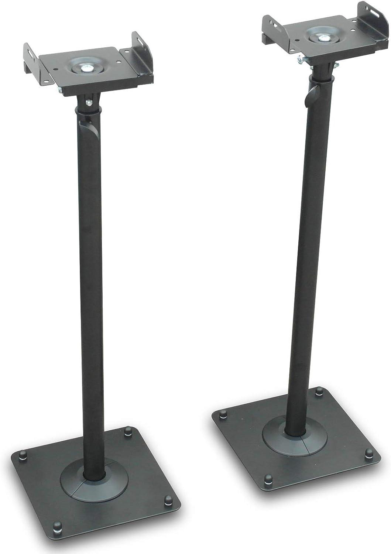 Drall Instruments Zwei Schwarze Lautsprecher Stative Audio Monitore Satelliten Ständer Höhenverstellbar Mit Kabelkanal Modell