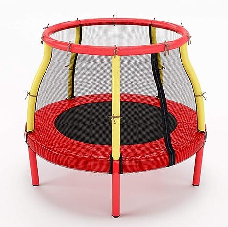 Trampolines Cama Elastica Rojo para niñas - Mini Mesa de Salto con cerramiento de Red de Seguridad, jardín al Aire Libre, Soporte de 100 kg: Amazon.es: Deportes y aire libre
