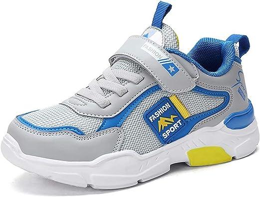 GURGER Zapatillas Unisex Niños Transpirables Zapatillas de Running Velcro Zapatillas de Deporte: Amazon.es: Zapatos y complementos