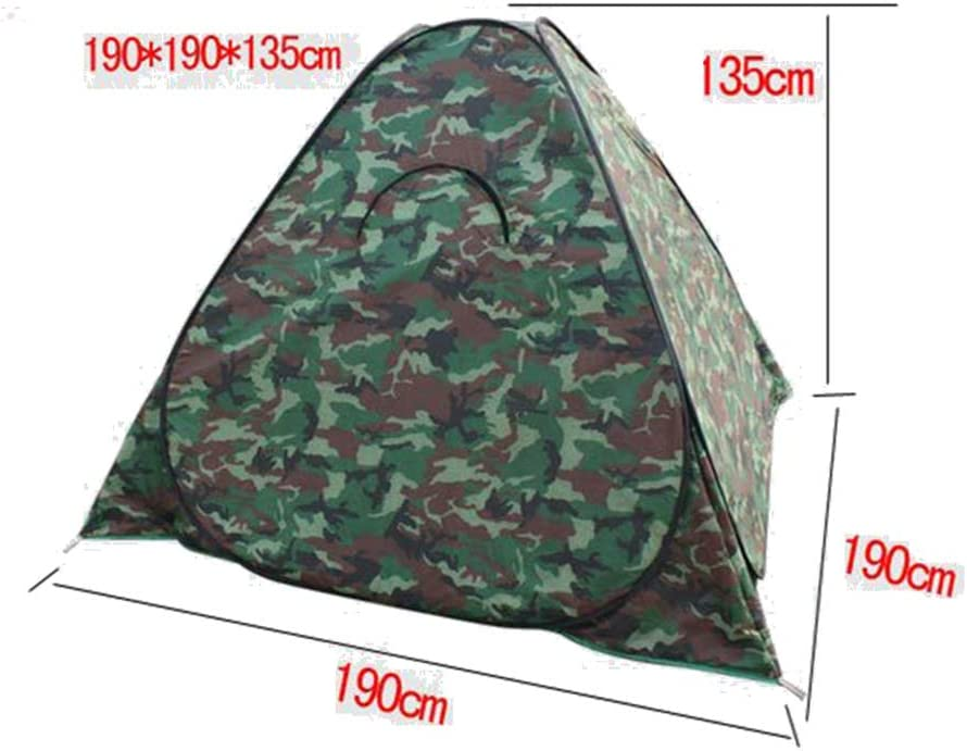 Geeignet F/ür Single VIWIV Camping Zelt Winddicht Warme Verdickung Wild Folding Camouflage Cotton Automatische Angelzelt
