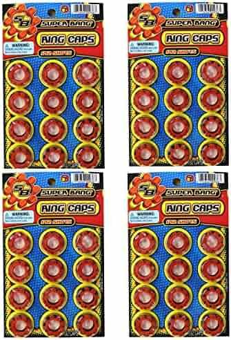 JaRu 8 Shot Plastic Ring Capsules Super Bang Caps 4-192 Shots Sheets (768 Shots Total)