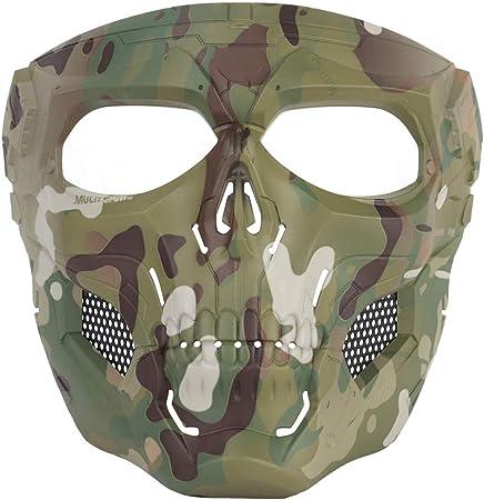 ATAIRSOFT Protector táctico Cráneo Ajustable Máscara Facial ...