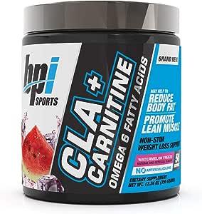 BPI Sports CLA + Carnitine Dietary Supplement 50 Serve, Watermelon Freeze, Watermelon Freeze 300 grams