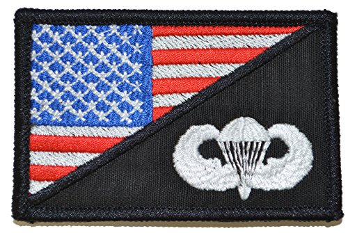 - Jump Wings USA Flag 2.25 x 3.5 inch Morale Patch (Full Color)