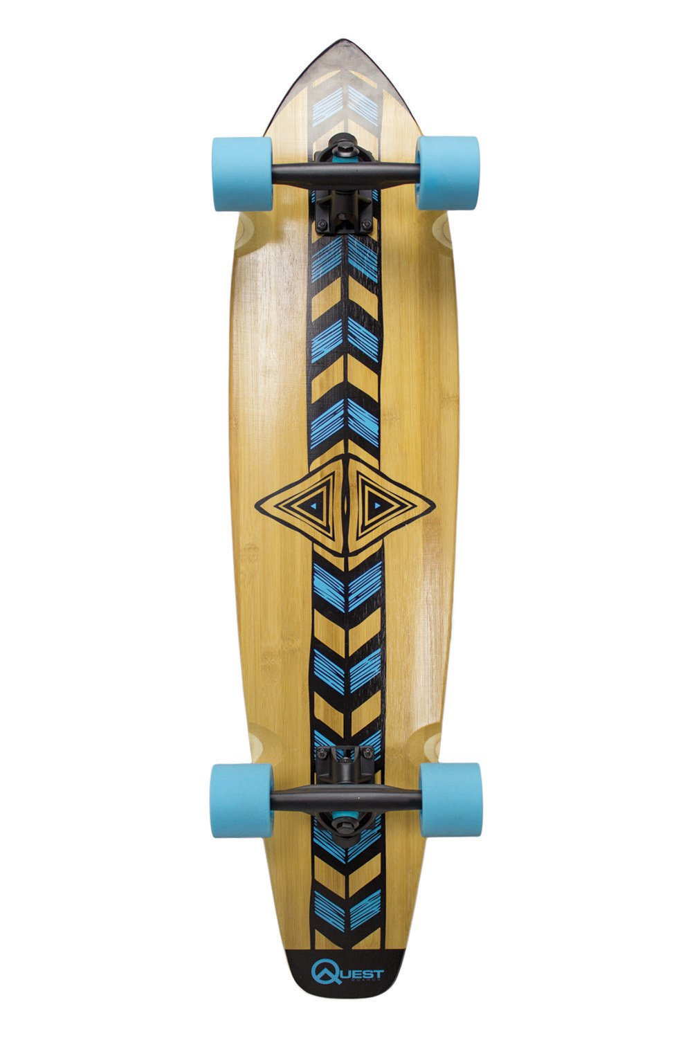 Quest ''Totem'' Longboard Skateboard, 36'', Natural