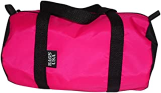 product image for BAGS USA Duffle Bag Round Shape Holds Cell Phone,Keys and Wallet, Great for Work or School. (Neon Pink)
