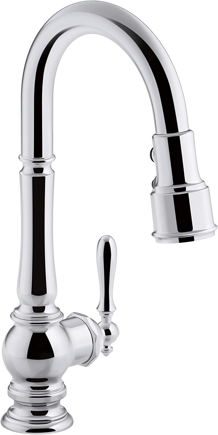 KOHLER K-99261-CP Artifacts Single-Hole Kitchen Sink Faucet