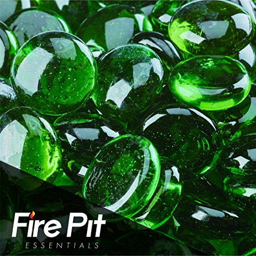 Emerald Green Beads Fire Glass Firepit Glass 10 Pounds Great for Fire Pit Fireglass or Fireplace Glass