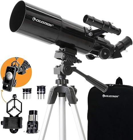 Celestron Telescopio Travel Scope 80 con Adaptador Smartphone: Amazon.es: Electrónica