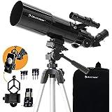 Celestron - 80mm Travel Scope - Portable Refractor Telescope - Fully-Coated Glass Optics - Ideal Telescope for Beginners - Bo