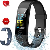 Fitness Tracker Semaco, Fitness Watch Waterproof with Heart Rate Monitor Activity Tracker Smart Wristband Band with Pedometer Sleep Monitor Step Calorie Counter Smart Watch for Kids Women Men